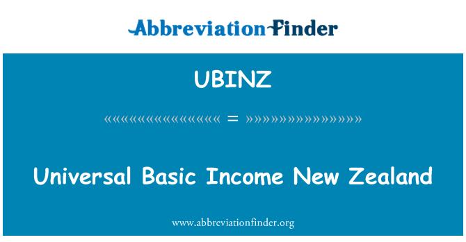 UBINZ: Universal Basic Income New Zealand