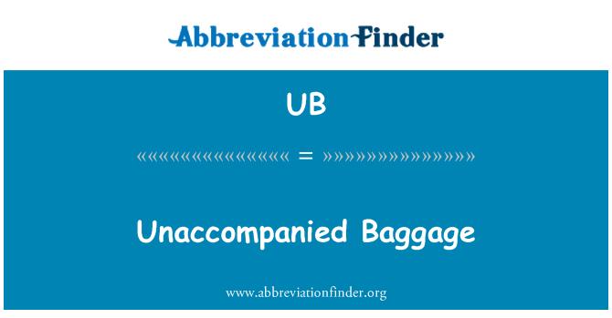 UB: Equipajes no acompañados