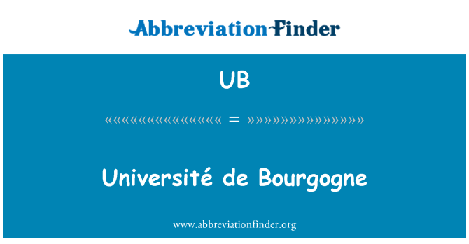 UB: Université de Bourgogne