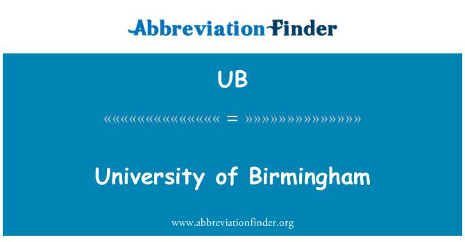 UB: Universidad de Birmingham