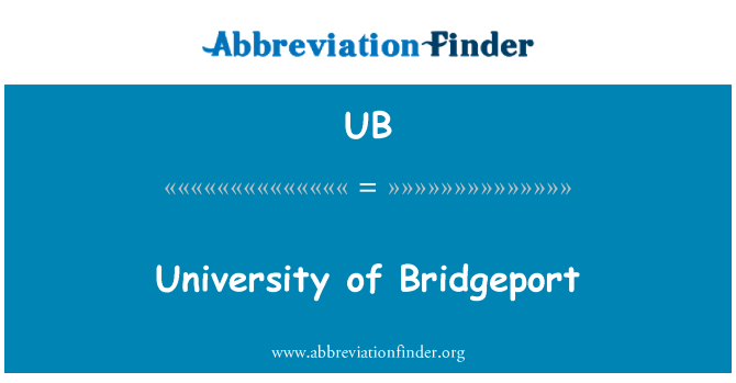 UB: University of Bridgeport