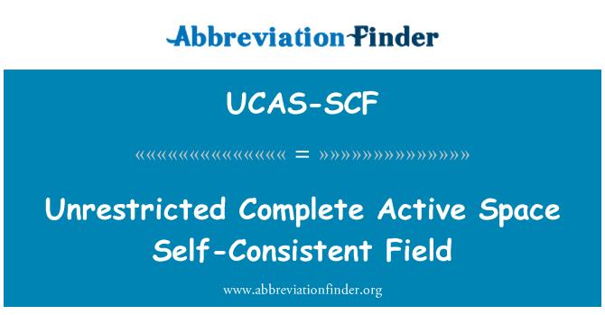 UCAS-SCF: Unrestricted Complete Active Space Self-Consistent Field