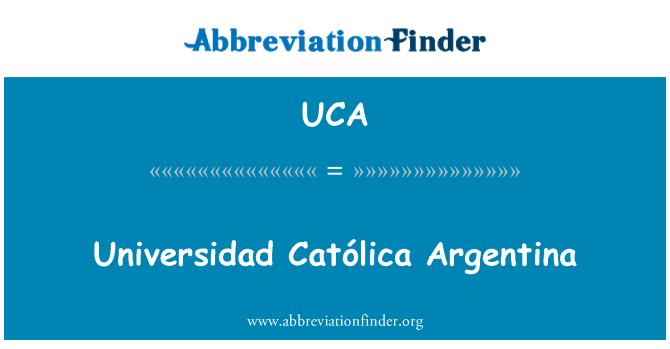 UCA: Universidad Católica Argentina