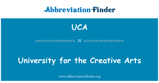 UCA: University for the Creative Arts
