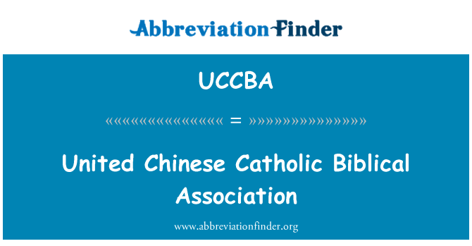 UCCBA: United Chinese Catholic Biblical Association