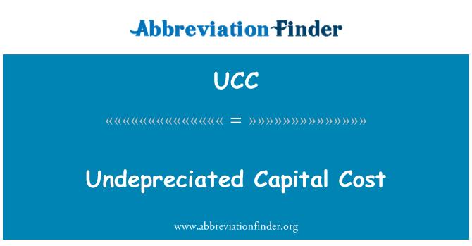 UCC: Costo de Capital minorado