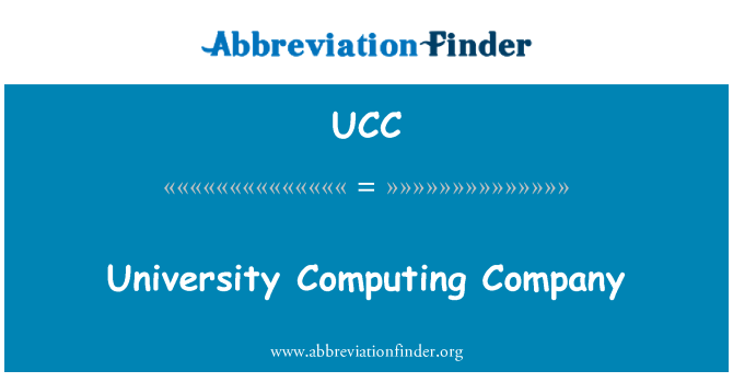 UCC: University Computing Company