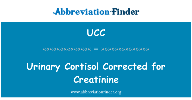 UCC: Urinary Cortisol Corrected for Creatinine