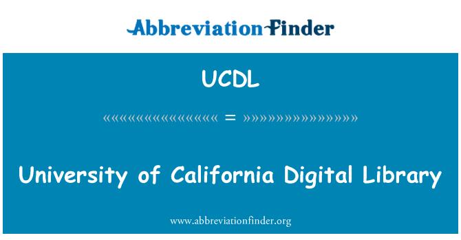 UCDL: Biblioteca Digital de la Universidad de California
