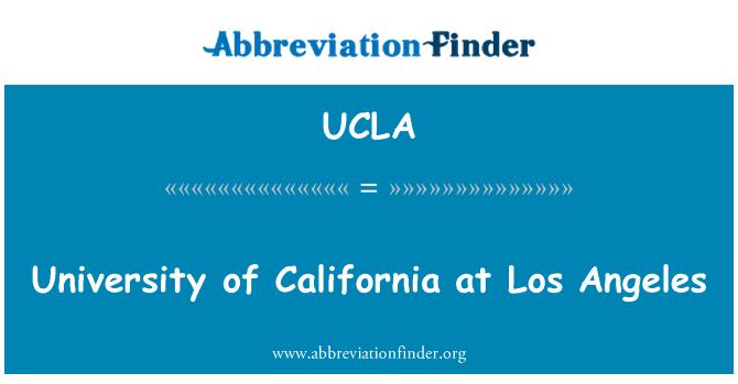 UCLA: University of California at Los Angeles