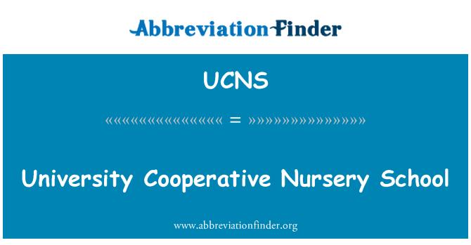 UCNS: Universidad Cooperativa preescolar