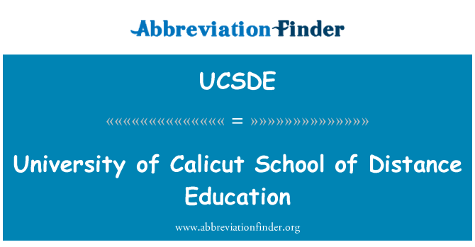 UCSDE: University of Calicut School of Distance Education