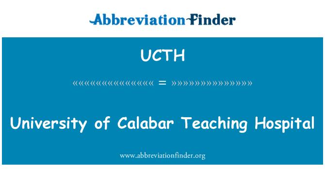 UCTH: University of Calabar Teaching Hospital