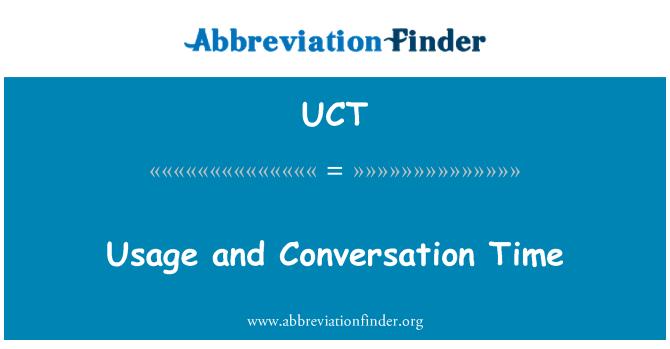 UCT: Uso y tiempo de conversación