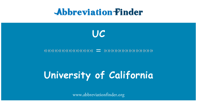 UC: University of California