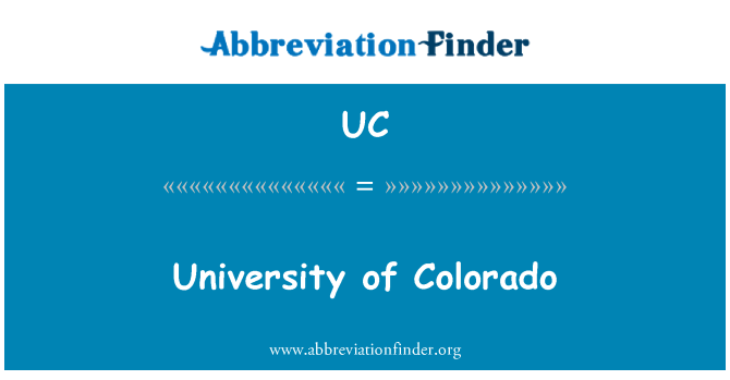 UC: University of Colorado