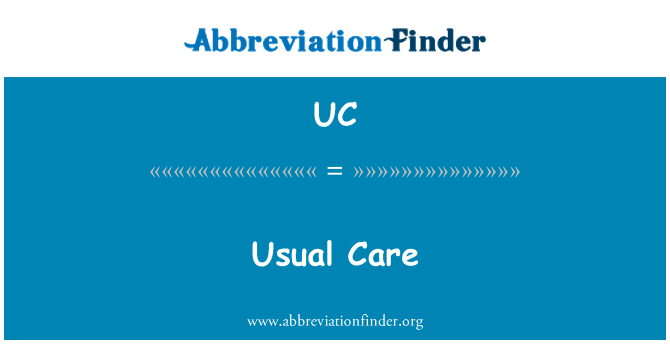 UC: Usual Care