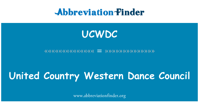 UCWDC: United Country Western Dance Council