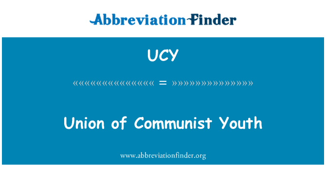 UCY: Union of Communist Youth