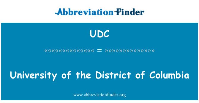 UDC: University of the District of Columbia