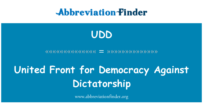 UDD: United Front for Democracy Against Dictatorship