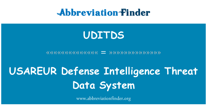 UDITDS: USAREUR Defense Intelligence Threat Data System