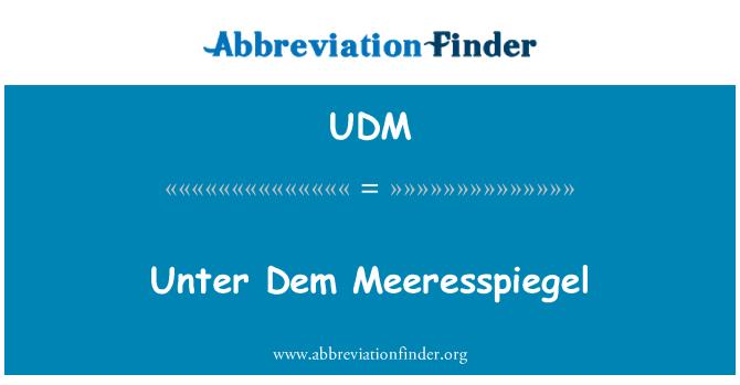 UDM: Unter Dem Meeresspiegel
