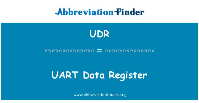 UDR: Registro de los datos UART