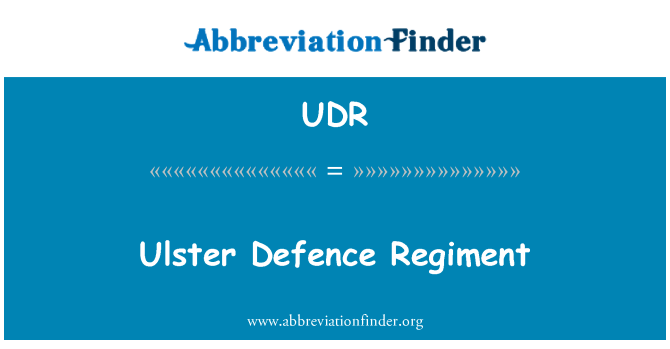 UDR: Regimiento de defensa del Ulster
