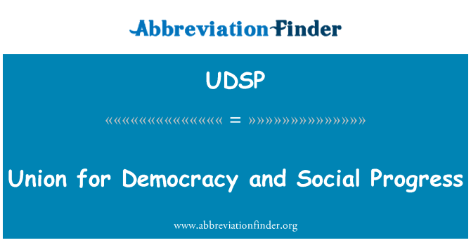 UDSP: Union for Democracy and Social Progress