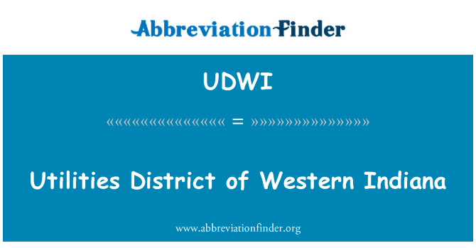 UDWI: Utilities District of Western Indiana