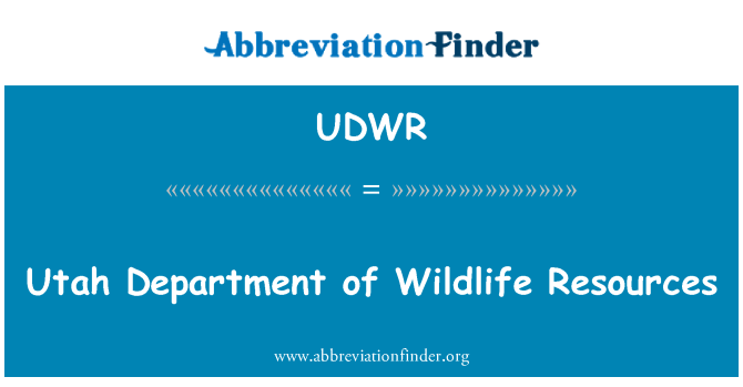 UDWR: Utah Department of Wildlife Resources