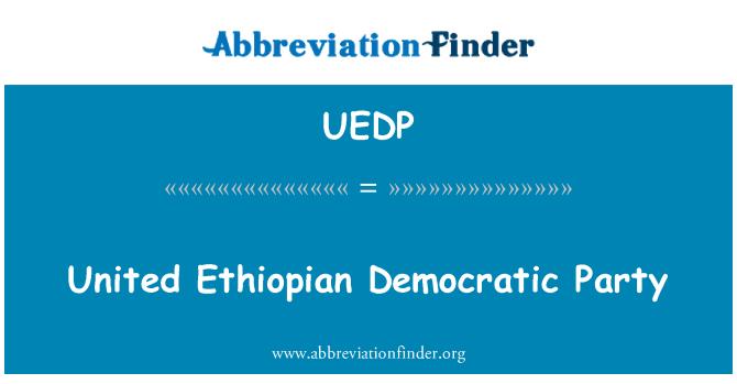 UEDP: United Ethiopian Democratic Party