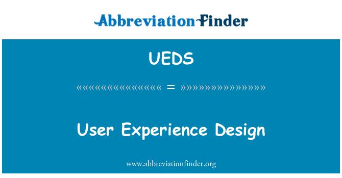 UEDS: Diseño de experiencia de usuario