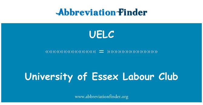 UELC: University of Essex Labour Club