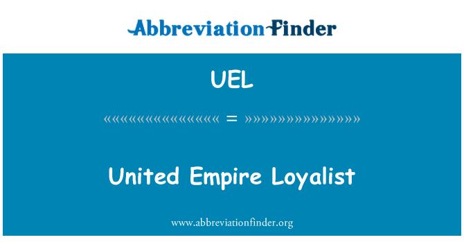 UEL: United Empire Loyalist
