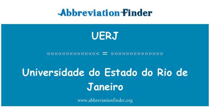 UERJ: Universidade do Estado do Rio de Janeiro