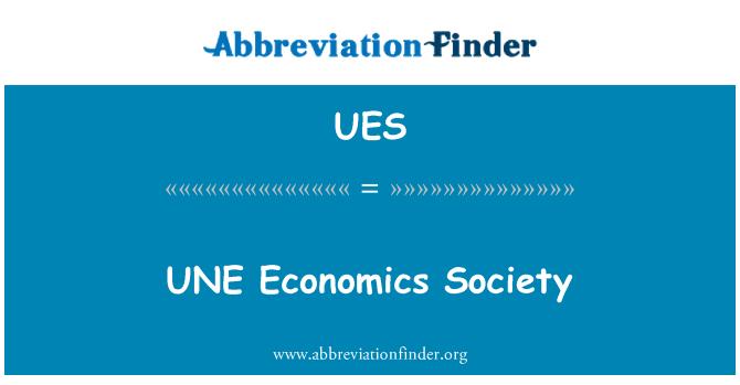 UES: UNE economía sociedad