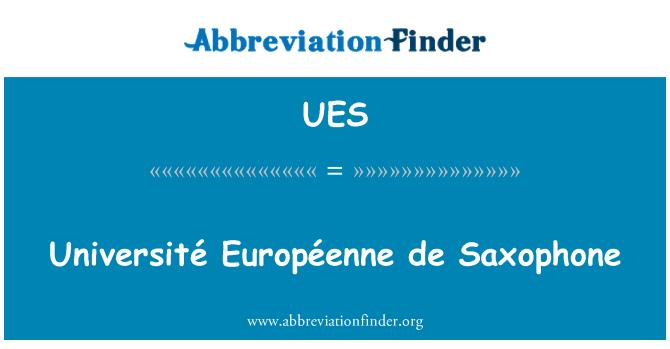 UES: Université Européenne de Saxophone