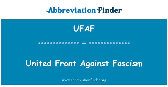 UFAF: United Front Against Fascism