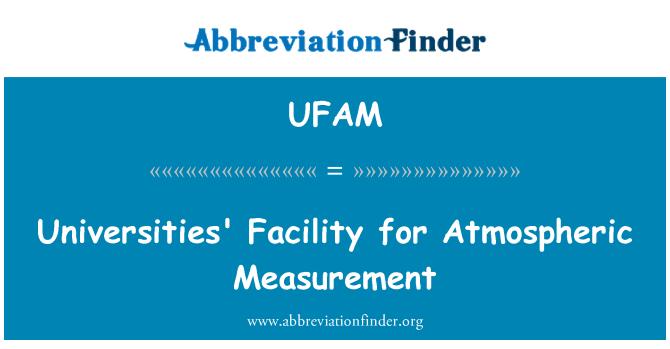 UFAM: Ülikoolide poole atmosfääris mõõtmised