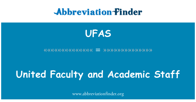UFAS: United Faculty and Academic Staff