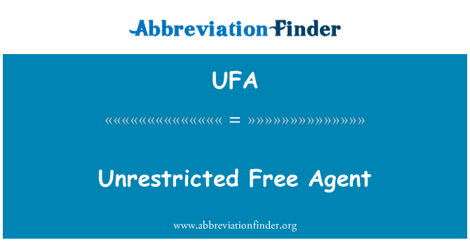 UFA: Unrestricted Free Agent