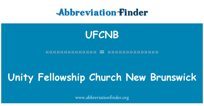UFCNB: Unity Fellowship Church New Brunswick