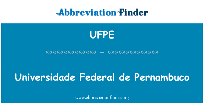 UFPE: Universidade Federal de Pernambuco