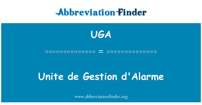 UGA: Unir de Gestion d'Alarme