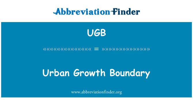 UGB: Límite de crecimiento urbano