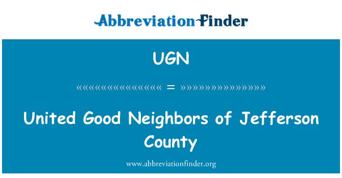UGN: United Good Neighbors of Jefferson County
