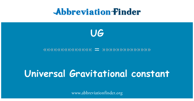 UG: Universal Gravitational constant
