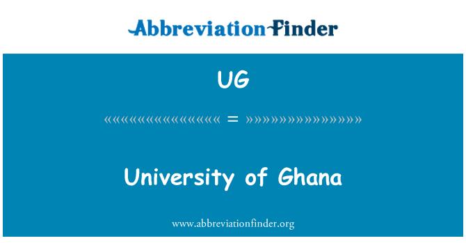 UG: Universidad de Ghana